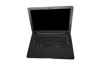 black fake laptop prop